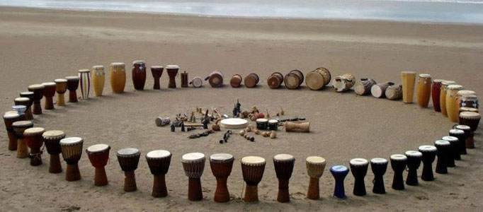 Círculos de percusión, talleres de percusión
